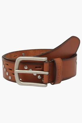 U.S. POLO ASSN. Mens Leather Buckle Closure Casual Belt  ...