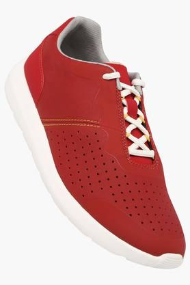 CLARKS Mens Leather Lace Up Sneakers  ...