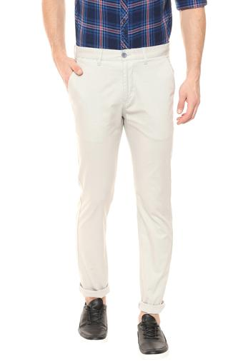 STOP -  Cream Formal Trousers - Main