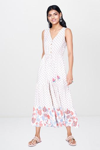 C458 -  WhiteEthnic Dresses - Main