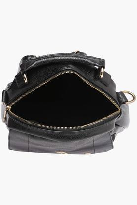 Womens Synthetic Leather Zipper Closure Backpack
