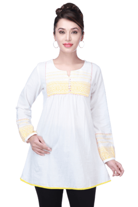 STOP Women Cotton Kurta - 9066519