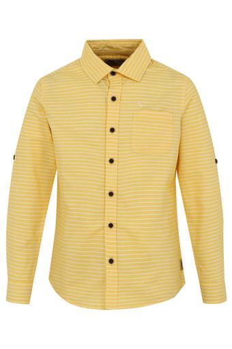 Boys Collared Stripe Shirt