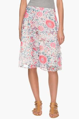 HAUTE CURRY Womens Printed Knee Length Skirt  ...