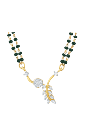 Mahi Gold Plated Unperturbed Beauty Mangalsutra Pendant with CZ for Women PS1191487G2