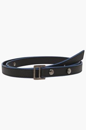 BAGGIT Womens Leather Loop Closure Casual Belt  ...
