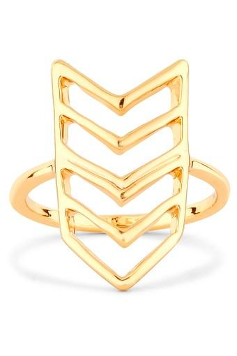 Womens Alloy Chevron Ring
