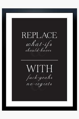CRUDE AREA Multi Colour No Regrets Printed Paper Poster  ...