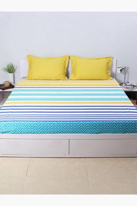 The Jester Stripes 100% Cotton Fitted Sheet - Yellow