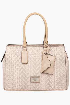 GUESS Womens Portola Zipper Closure Tote Handbag