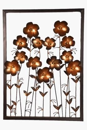 MALHAR Wrought Iron Ton Daisy Copper Flower Wall Decor