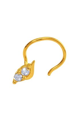 MAHIMahi Gold Plated Beguile Beauty Nosepin With CZ For Women NR1100141G