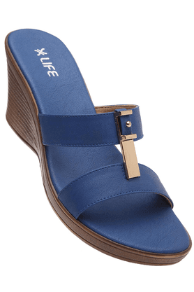 LIFE Womens Blue Wedge Sandal