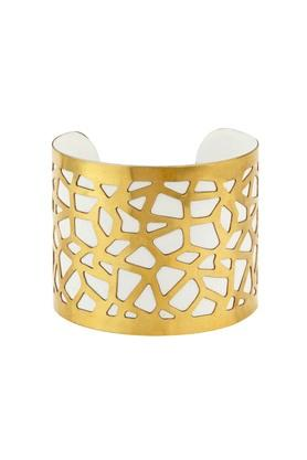 Womens Brass Jaali Cuffs