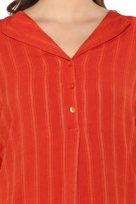 Womens V Neck Striped Top