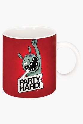 CRUDE AREAParty Hard Printed Ceramic Coffee Mug