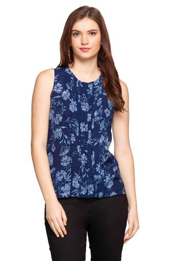 Womens Round Neck Floral Print Shirt