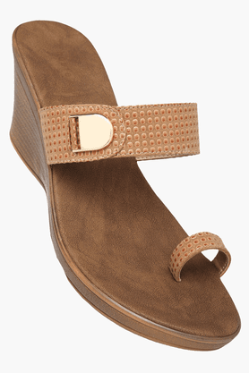 HAUTE CURRY Womens Daily Wear Slipon Wedge Sandal