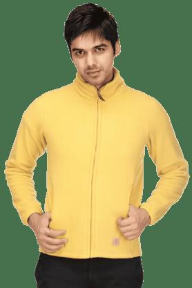 UNITED COLORS OF BENETTONMens Full Sleeves Slim Fit Solid Sweatshirt