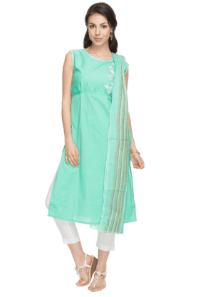 AURELIA Womens Pant-style Salwar And Kurta Set