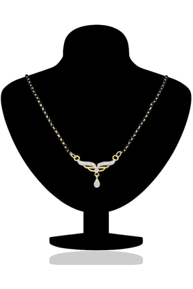 MAHIMahi Daily Wear Fashion Mangalsutra Pendant Of Brass Alloy With CZ For Women PS1191401G