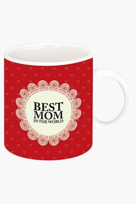 CRUDE AREA Best Mom In The World Printed Ceramic Coffee Mug