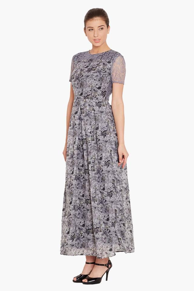 25401dbbb Buy THE VANCA Womens Slim Fit Printed Maxi Dress   Shoppers Stop