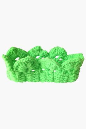 Girls Solid Crochet Crown Headband (0 - 2 Years)