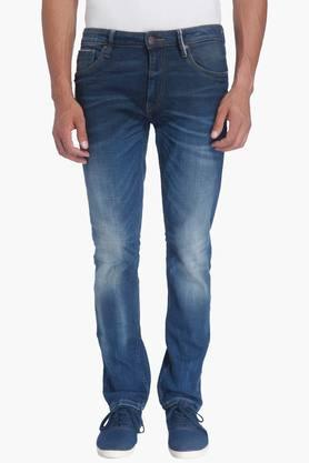 JACK AND JONES Mens Slim Fit Heavy Wash Jeans (Tim Fit)