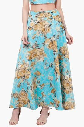 INDYA Womens Printed Maxi Skirt - 201845612