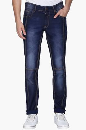 RS BY ROCKY STAR Mens 5 Pocket Heavy Wash Contrast Stitched Jeans