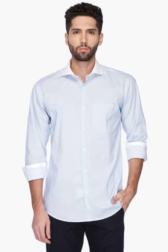 Mens Cutaway Collar Herringbone Shirt