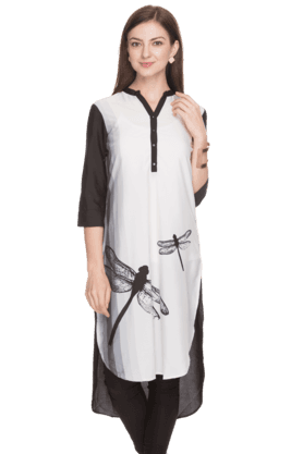 W Women Slim Fit Printed Kurta