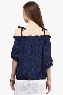 68a1bed0613526 Buy RARE Womens Off-shoulder Printed Top