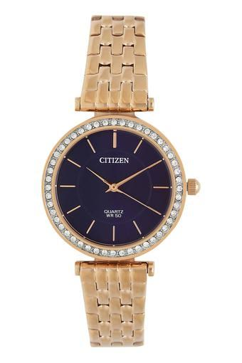 Womens Purple Dial Metallic Analogue Watch - ER0213-57L