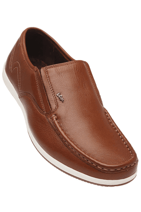 LEE COOPER Mens Brown Leather Slipon Casual Shoe