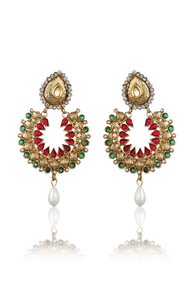 ZAVERI PEARLS Traditional Earrings- ZPFK1346