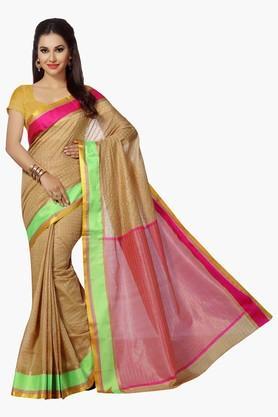 ISHINWomens Mercerised Silk Woven Saree