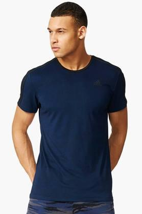 ADIDAS Mens Round Neck Solid T-Shirt - 201142753