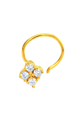 MAHI Mahi Gold Plated The Cluster Nosepin With CZ For Women NR1100144G
