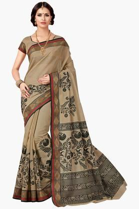 ASHIKA Womens Designer Cotton Printed Saree - 202338231