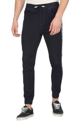 Mens 4 Pocket Rinse Wash Jogger Jeans