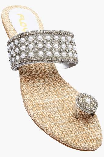 Buy FLOY Womens Party Slipon Flat Sandal  821b35bde