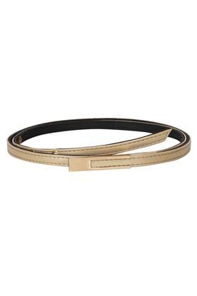 Womens Synthetic Leather Buckle Closure Casual Belt