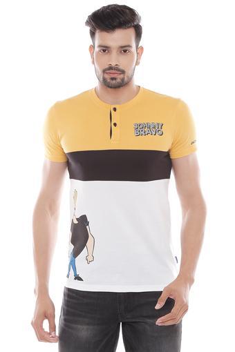 JACK AND JONES -  YellowT-Shirts & Polos - Main