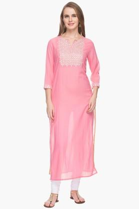 RS BY ROCKY STAR Womens Gota Embroidered Kurta