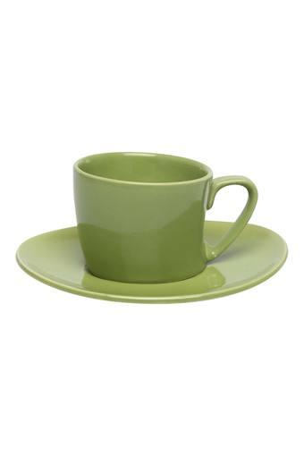 Round Solid Cup and Saucer