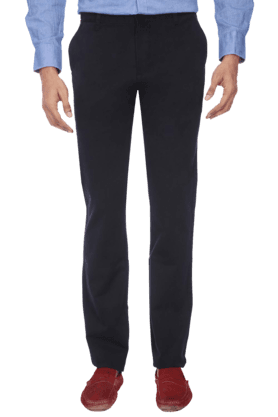 VETTORIO FRATINI Mens Flat Front Slim Fit Solid Chinos