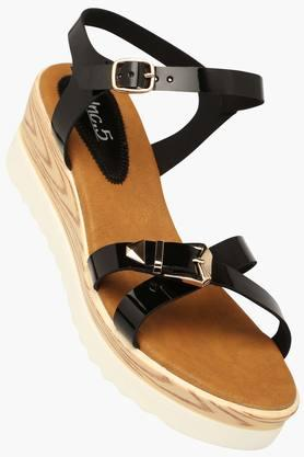 INC.5 Womens Casual Ankle Buckle Closure Wedge Sandal