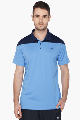 ADIDAS Mens Short Sleeves Solid Polo T-Shirt